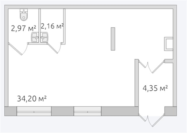 Офисное помещение 44 кв.м., Московский район