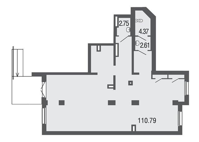 Торговое помещение 120 кв.м., Невский район