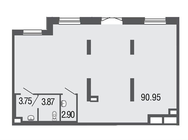 Офисное помещение 101 кв.м., Невский район