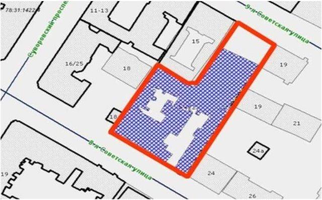 Земельный участок 2748 кв.м., Центральный район