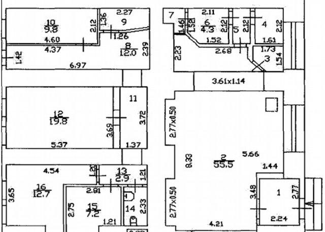 Торговое помещение 150 кв.м., Центральный район
