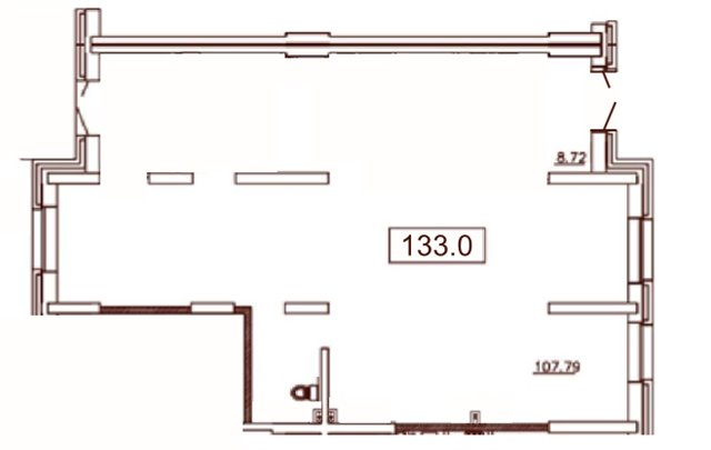 Торговое помещение 133 кв.м., Московский район